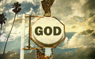 A sign pointing to God