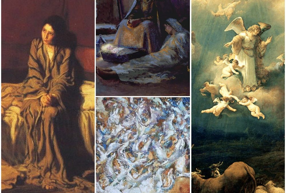 Four paintings for the four weeks of Advent